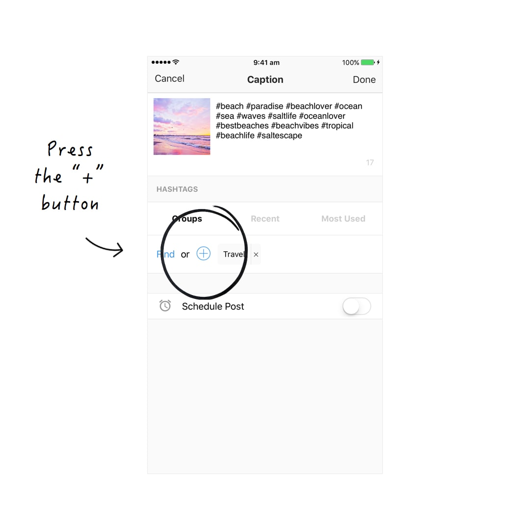 The Easiest Way to Save Hashtag Groups for Instagram