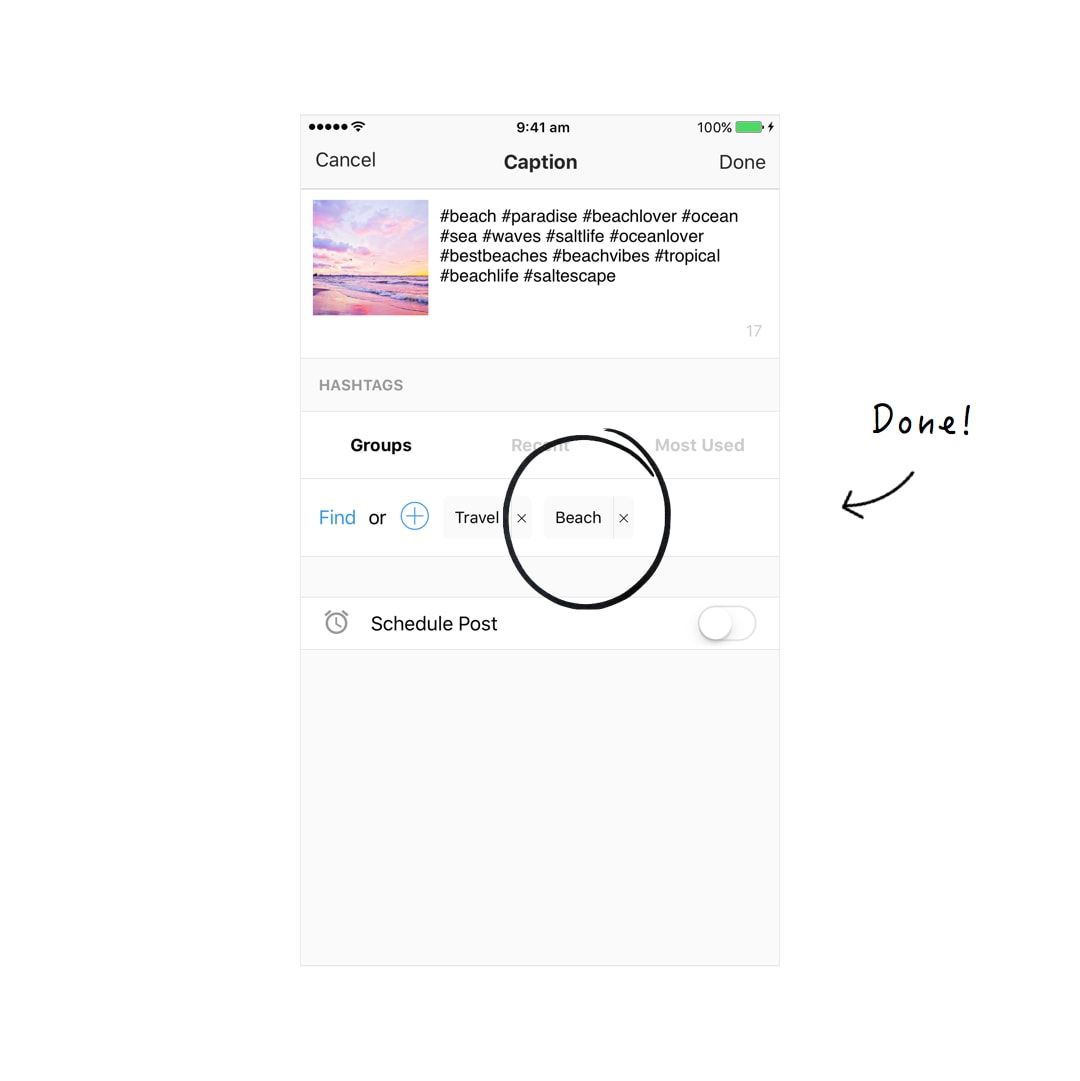The Easiest Way to Save Hashtag Groups for Instagram - Preview App