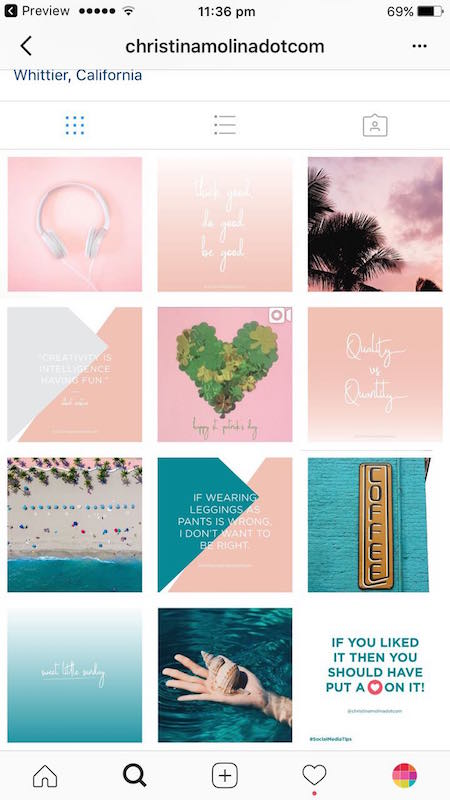 Instagram Page Layout Images
