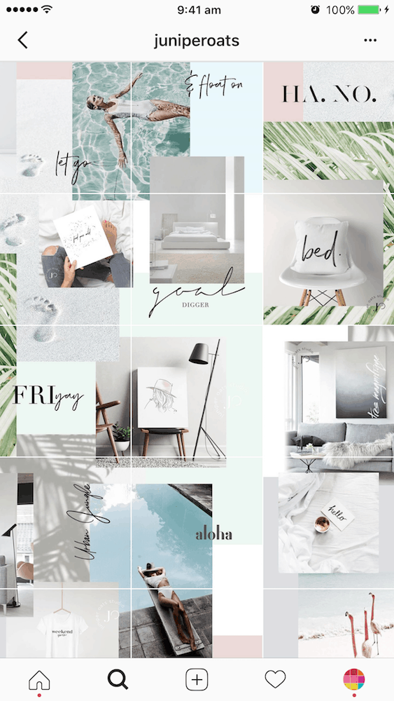 7 types of instagram grid layouts planner tips. Black Bedroom Furniture Sets. Home Design Ideas