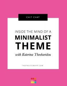 Behind the Feed: Katerina and the Secrets of a Minimalist Instagram Theme