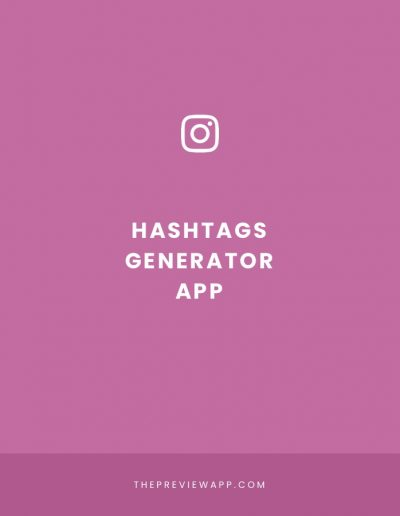 Instagram Hashtag Generator in Preview App