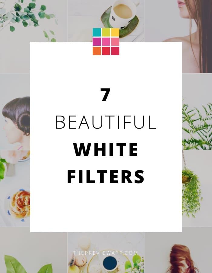 White Instagram Theme using the White II Filter Pack inside Preview App.