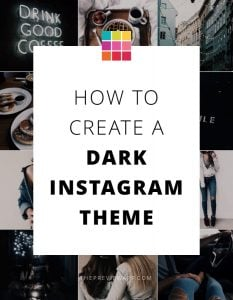 Very Dark Instagram Theme: Step-by-Step using Preview App
