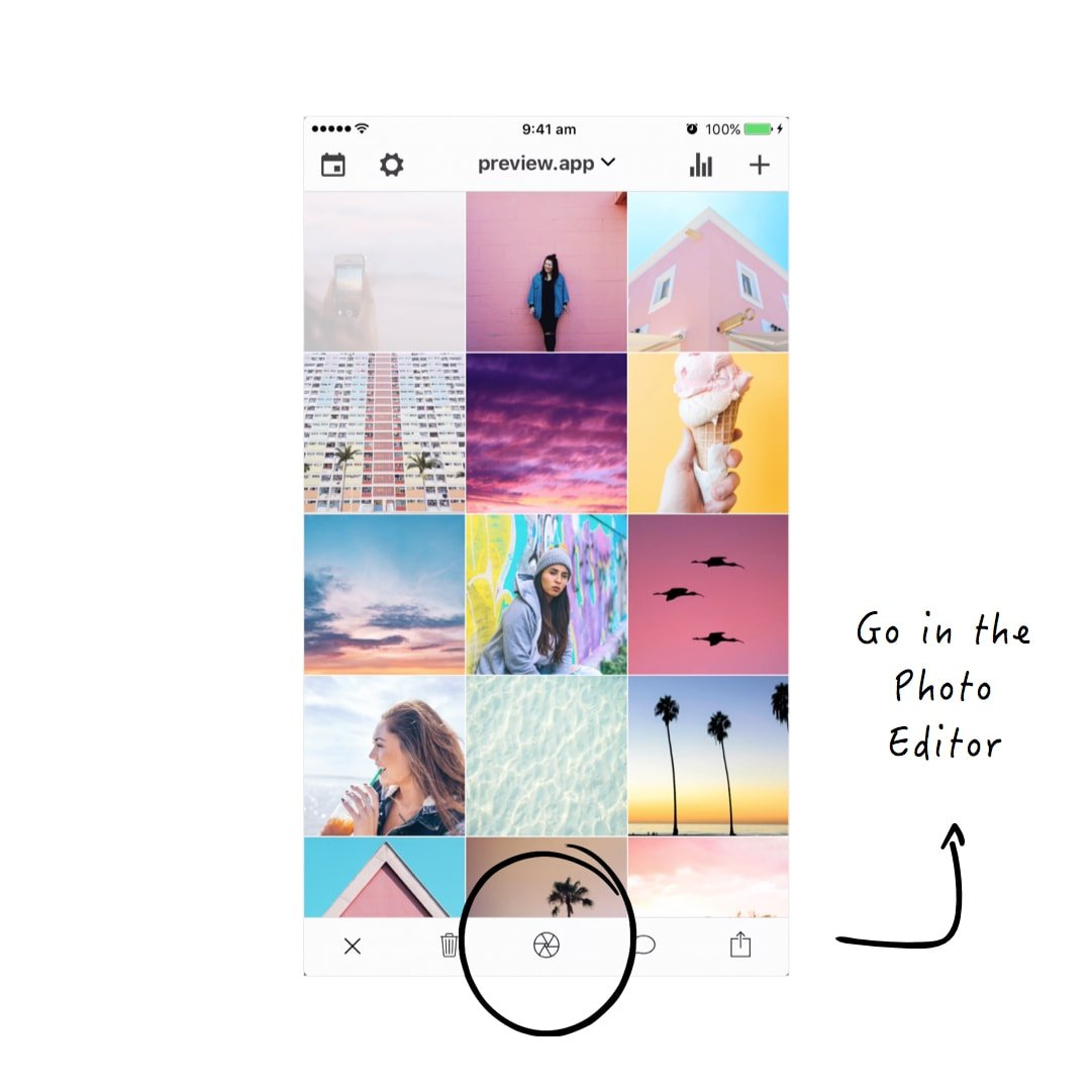 How to Make a Pastel Instagram Theme using Preview App - Preview App