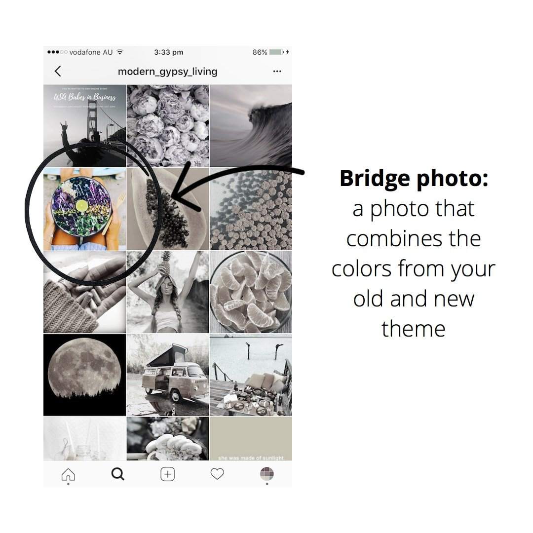 How To Transition Your Instagram Theme Preview App More Graphics One Showing 3wire Feed Second 4wire See She Transitioned Her Starting With A Little Bit Of Purple Then And Only