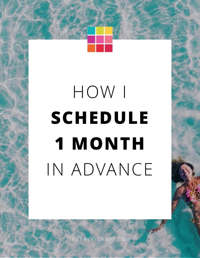 How I Schedule my Instagram Feed 1 Month in Advance using Preview App
