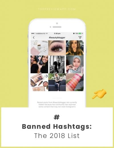 List of Banned Instagram Hashtags (2018)