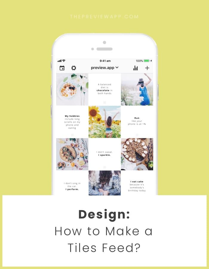 How To Make A Tiles Feed Instagram Layout With Quotes