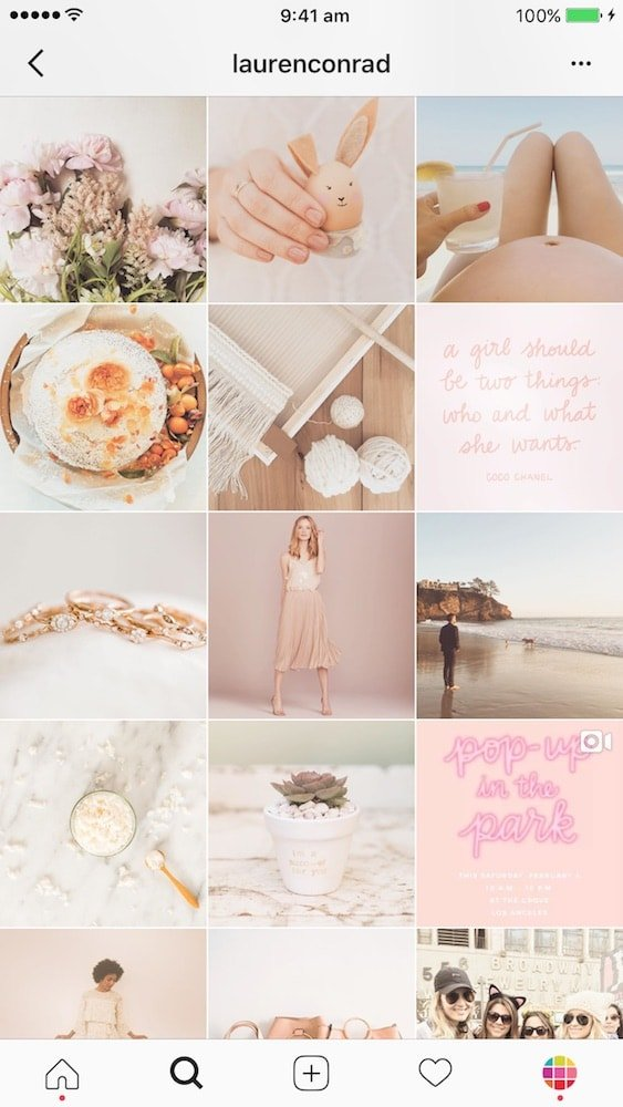 How To Make An Instagram Feed Like Lauren Conrad Filter