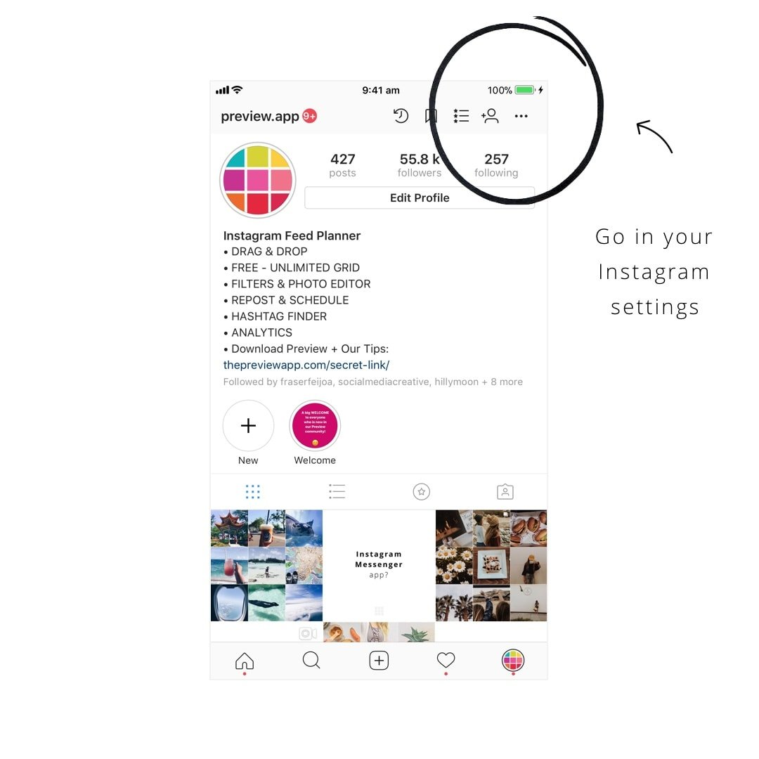 How to put insta stories under your instagram bio full tutorial turn on the save to archive feature ccuart Gallery