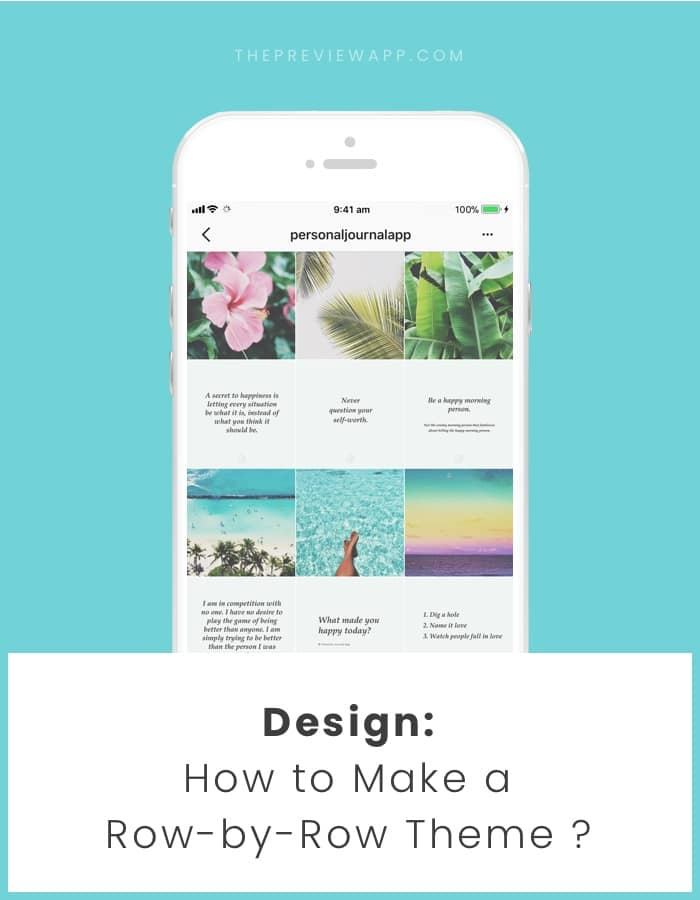 Row by row Instagram feed layout