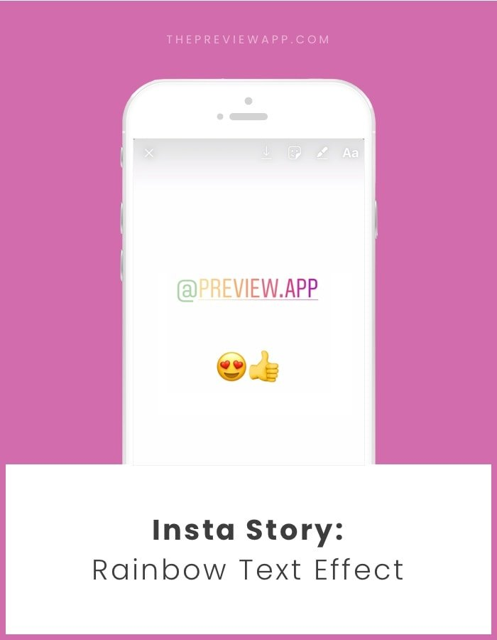 How To Do a Rainbow / Ombre Text Effect on Insta Story?