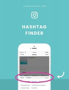 The Instagram Hashtag Finder in Preview App