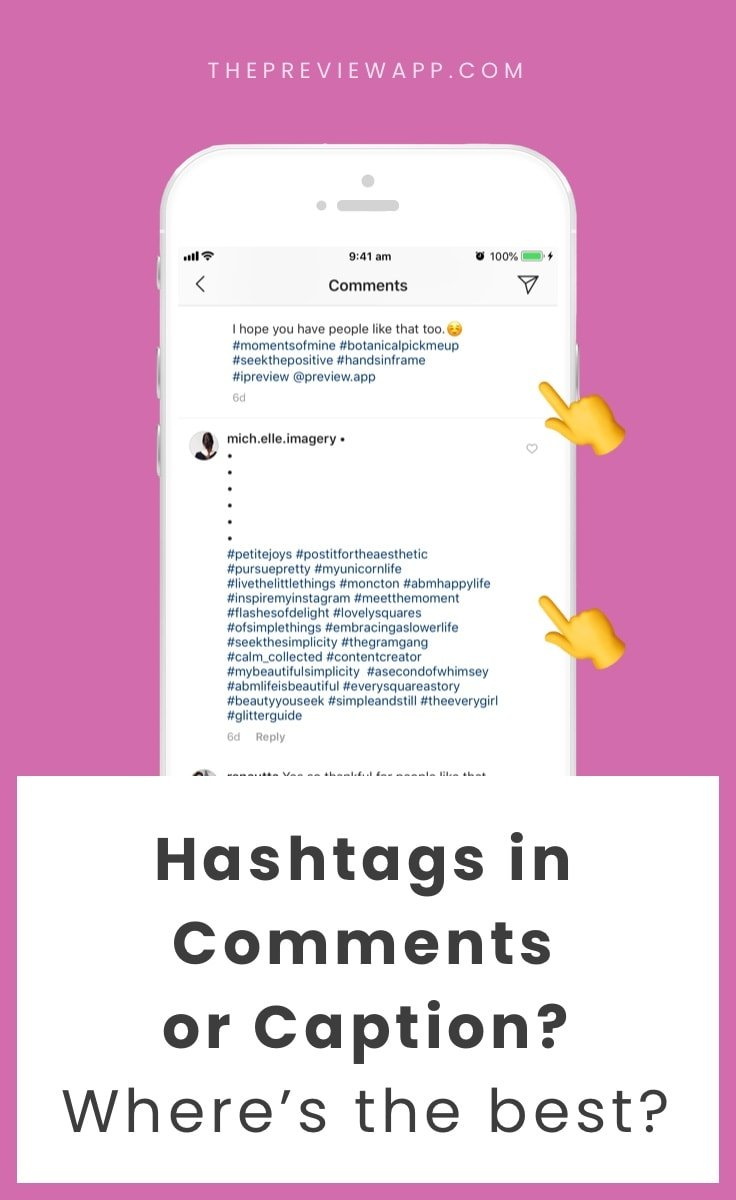 Instagram Hashtags: in the Caption or Comments? (SAFEST?)