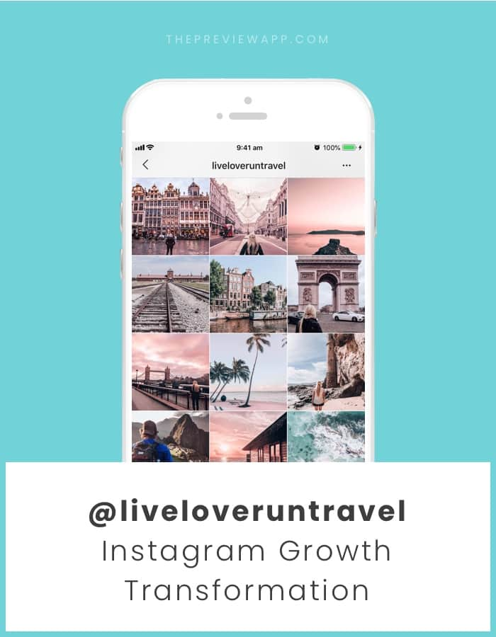 Cohesive Instagram feed after using Preview App