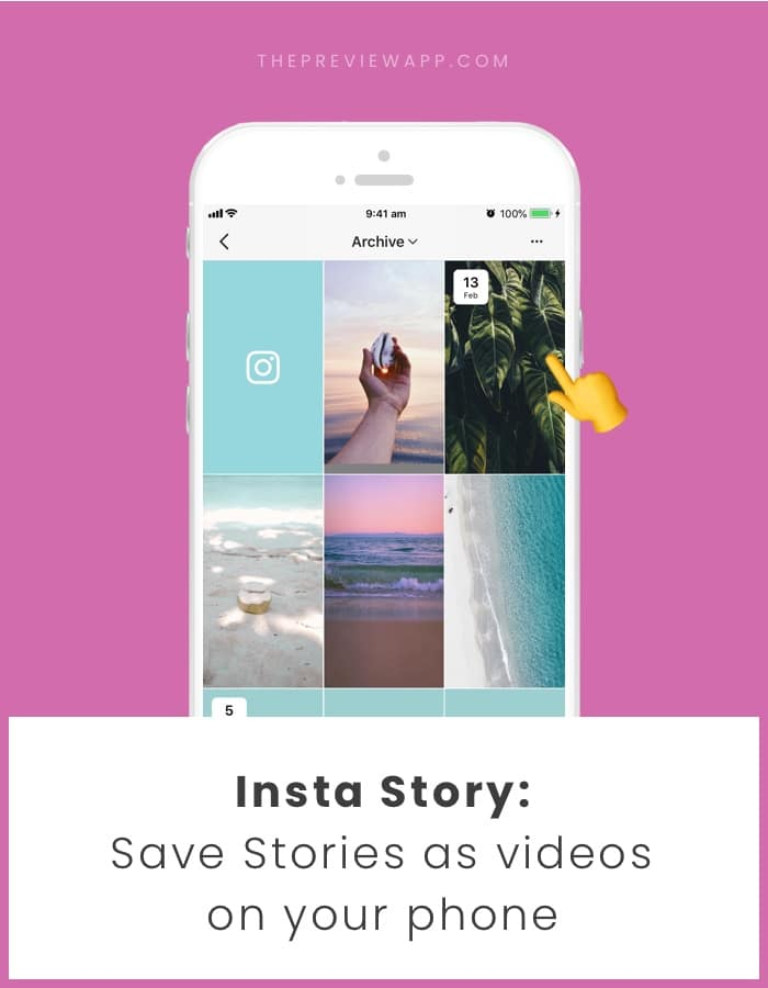 How do you view your archived stories on instagram