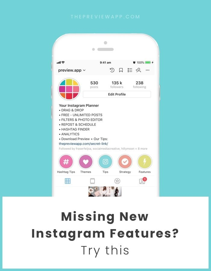 Don't Have the New Instagram Features on Your Account? Try this
