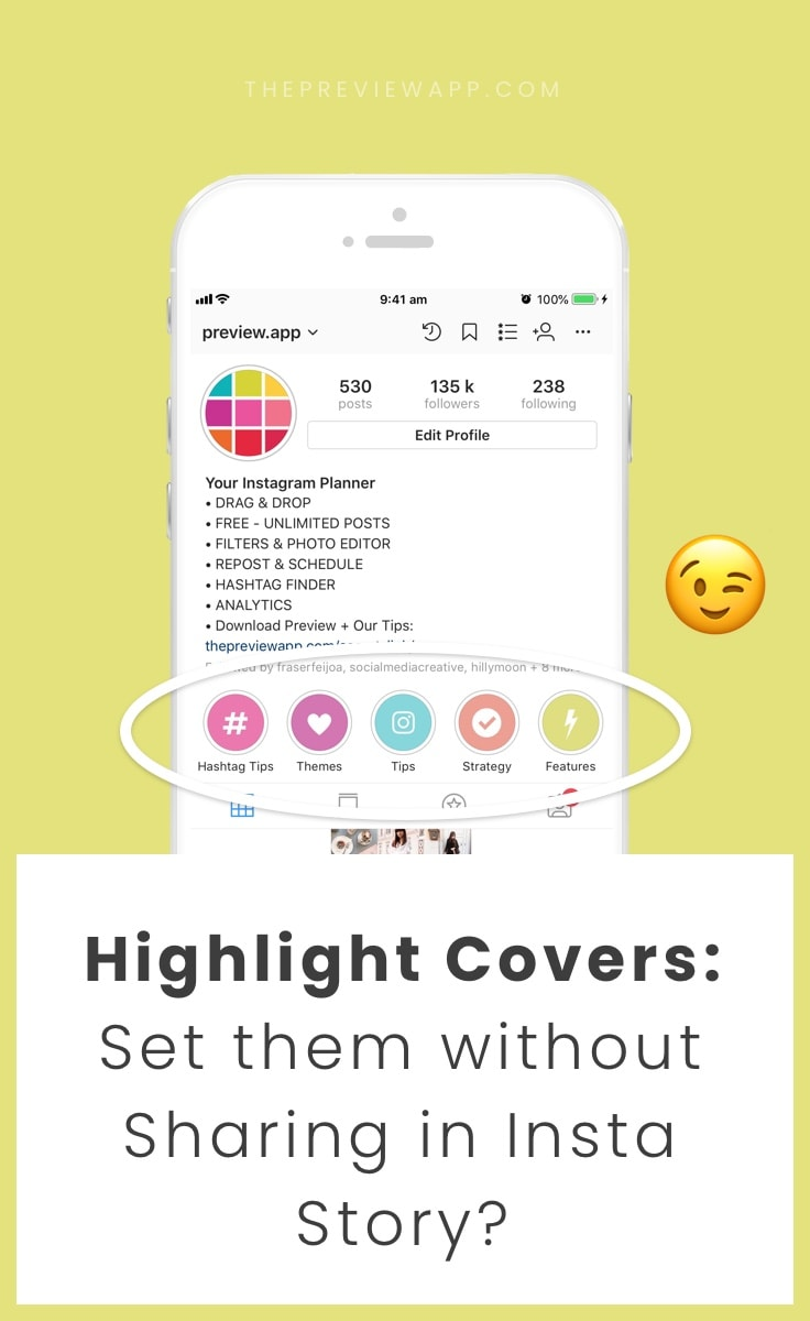 instagram highlight bilder