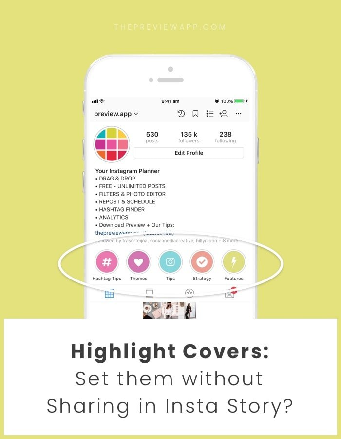 How to Set a Highlight cover without Sharing it in your Insta Story?