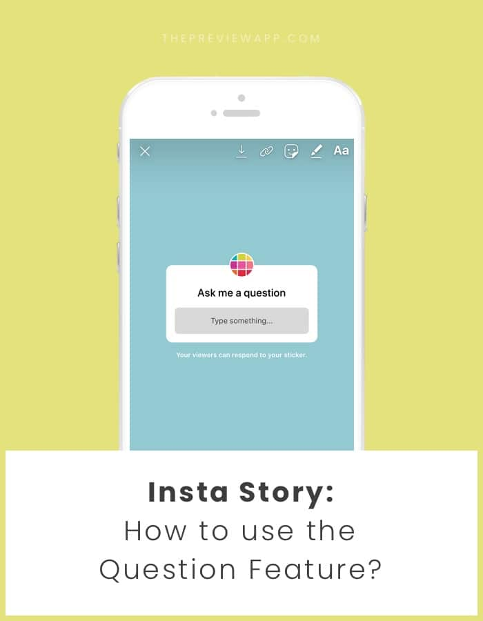 How to use the Question feature in Insta Story?
