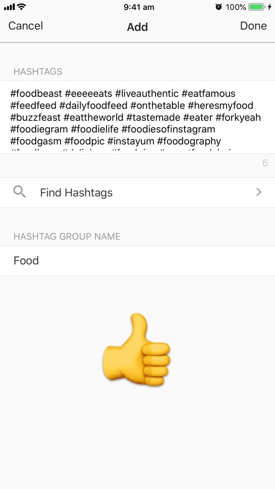 Instagram HASHTAG GROUP MANAGER in Preview App: How to use it?