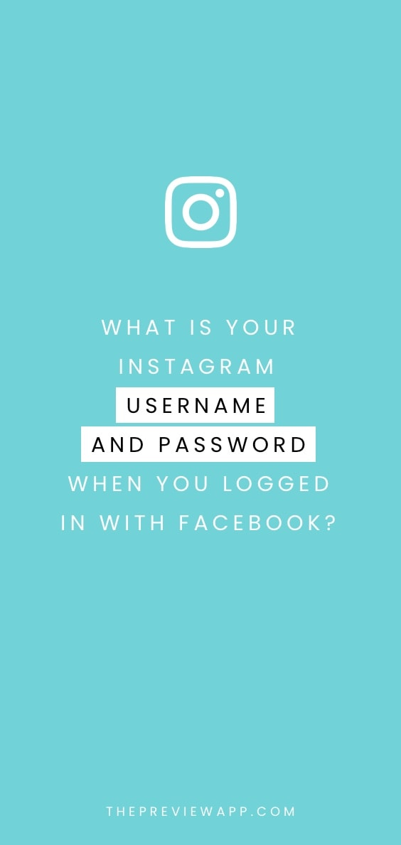 Created your Instagram Account with Facebook? And Don't Know Your