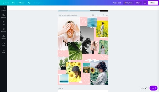 FREE TEMPLATES: Instagram Puzzle Feed WITHOUT Photoshop