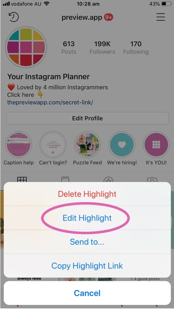 How to Reorder your Instagram Story Highlights?