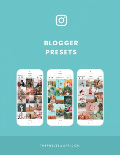 Instagram Blogger Presets in Preview App