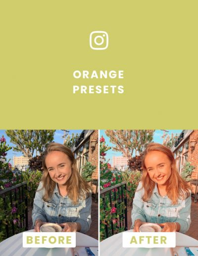 Orange Blogger Presets in Preview App