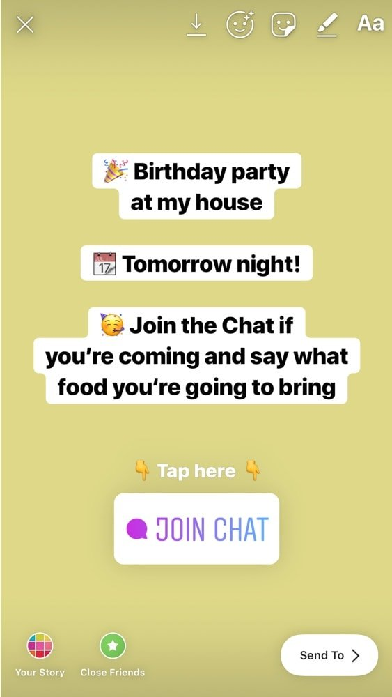 How to use the Chat feature in Instagram Story? (FULL