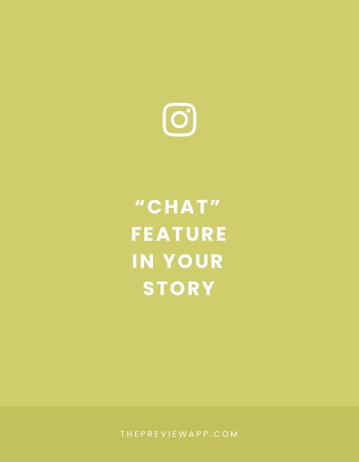 "Insta Story ""Chat"" feature: How to use it + ideas"