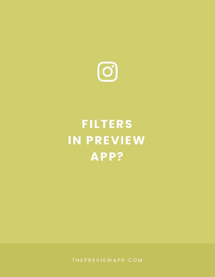 Where are the Filters in Preview App?