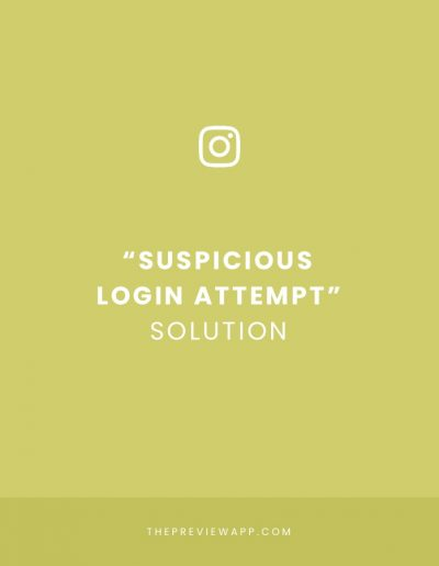 """Suspicious Login Attempt"" Instagram SOLUTION!"
