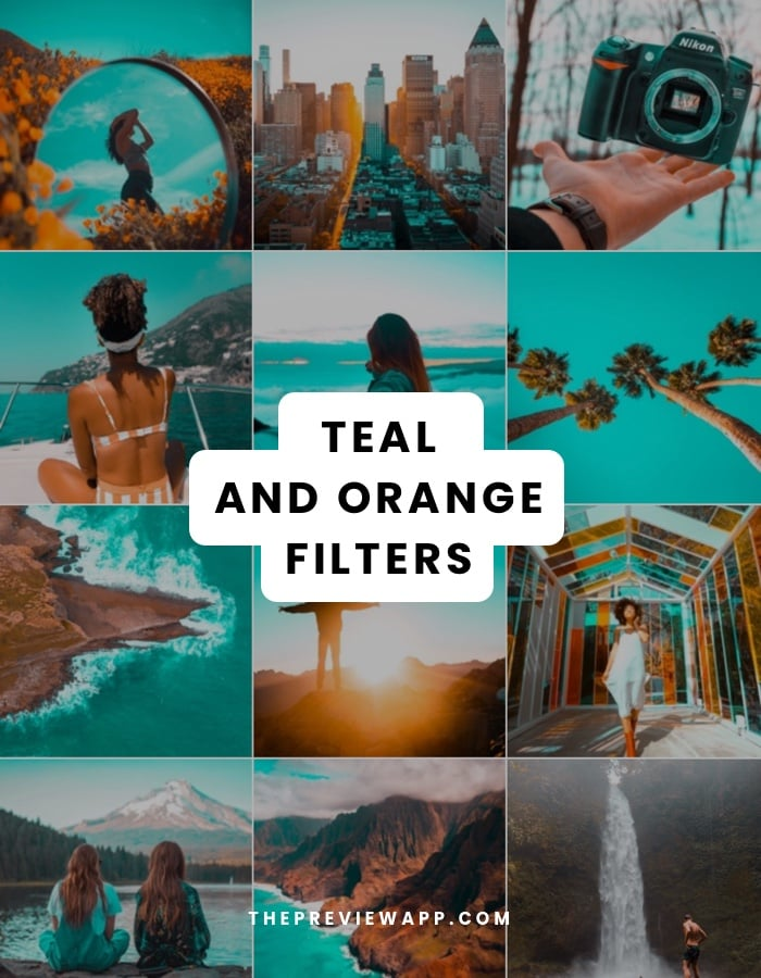 Teal and Orange filters in Preview app