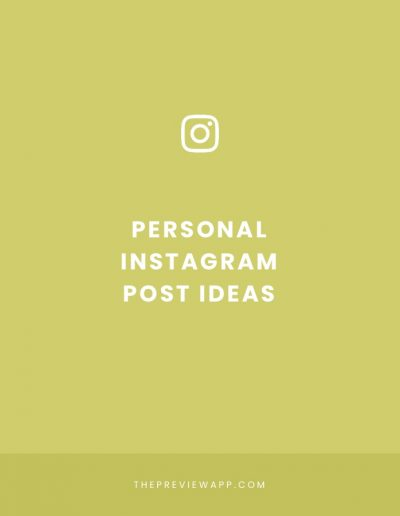 Personal Instagram Post ideas