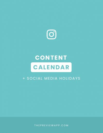 Instagram Content Calendar in Preview App