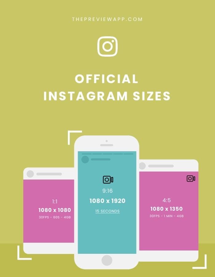 Instagram sizes 2020