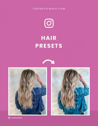 Presets for Hairstylists and Barbers