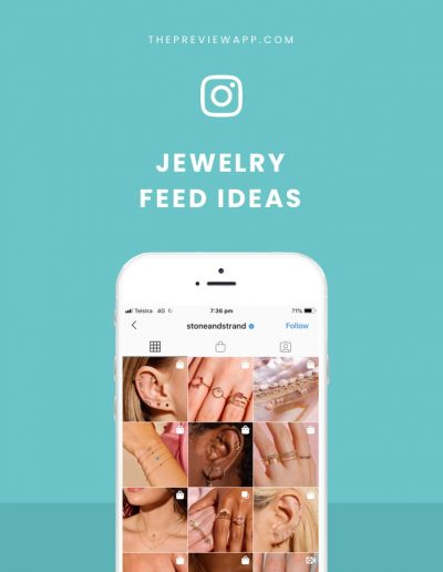 Beautiful Instagram Feed ideas for Jewelry Businesses