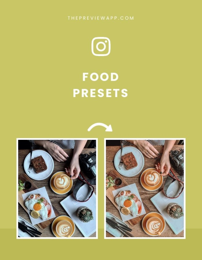 Best food presets for food bloggers and food photography in Preview App