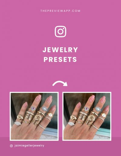 Presets for Jewelry Shops and Instagram Feed