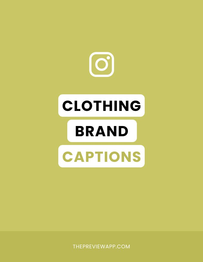 Instagram Captions for Clothing Brands
