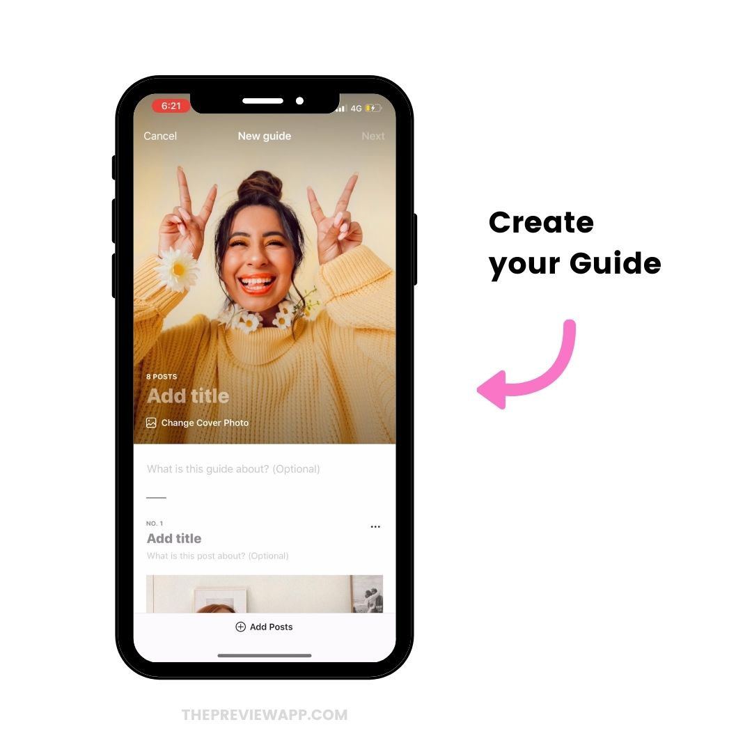 How to create Instagram Guides blog post