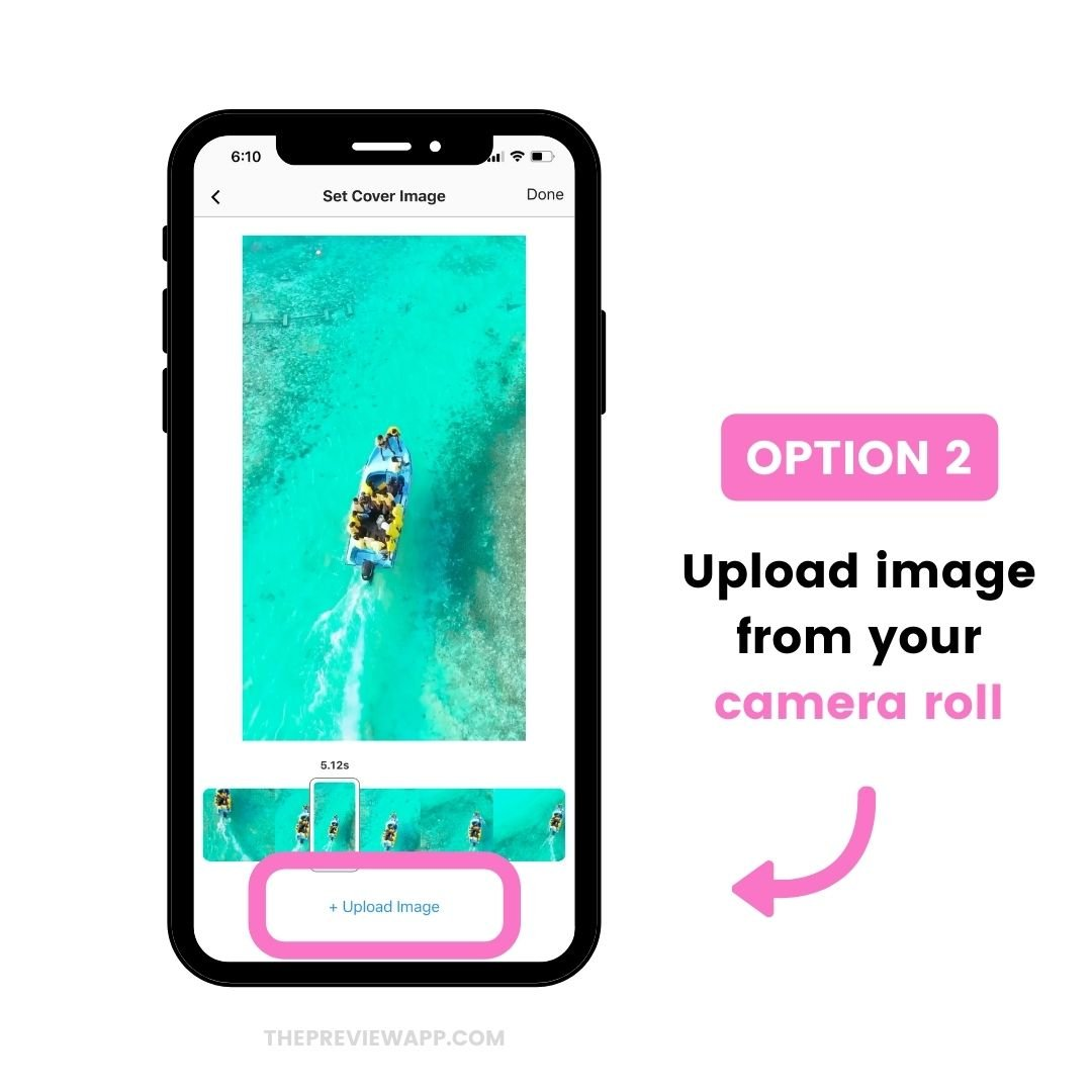 Upload Instagram Reels cover from camera roll