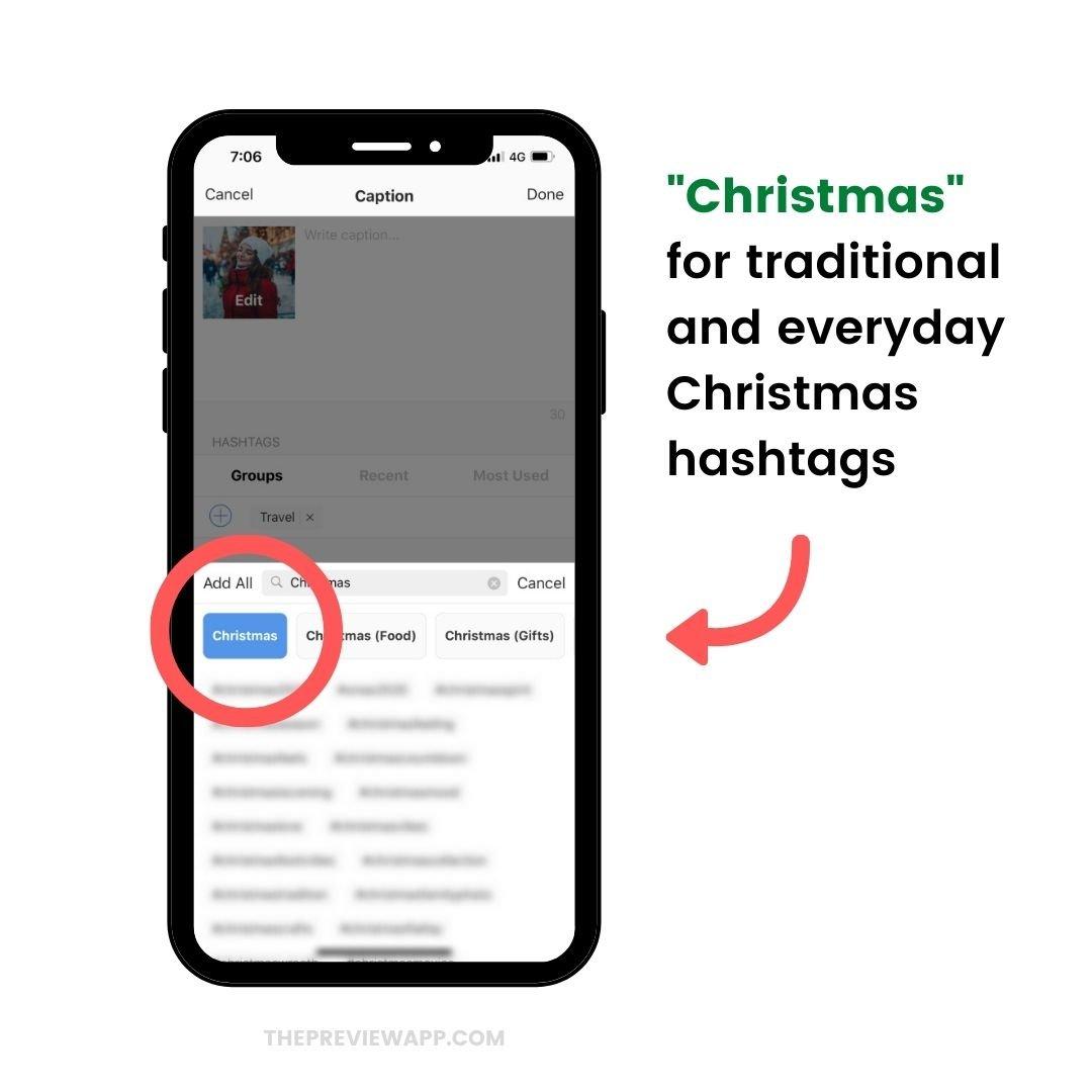 Christmas Instagram hashtags