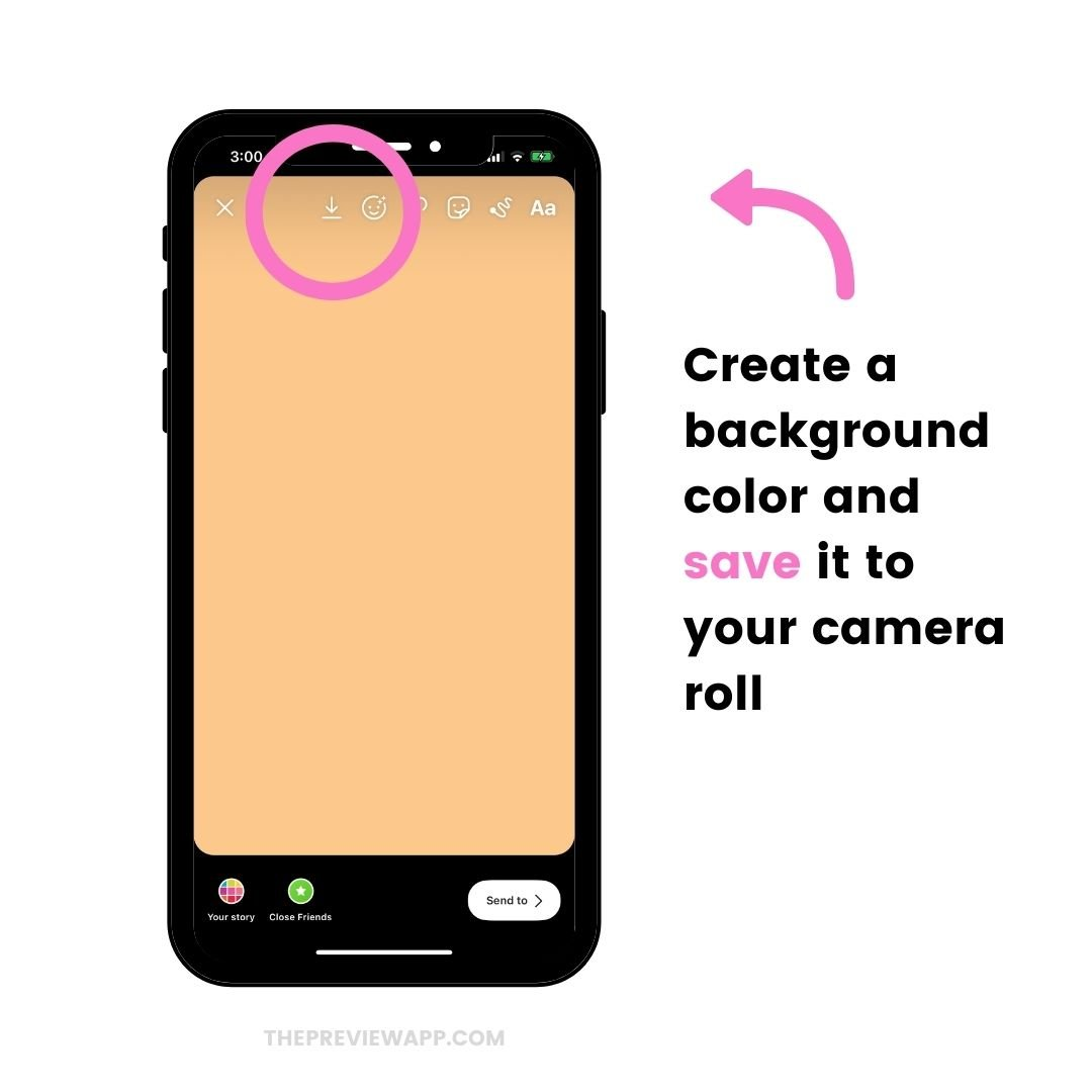 How to change background color in Instagram Story?