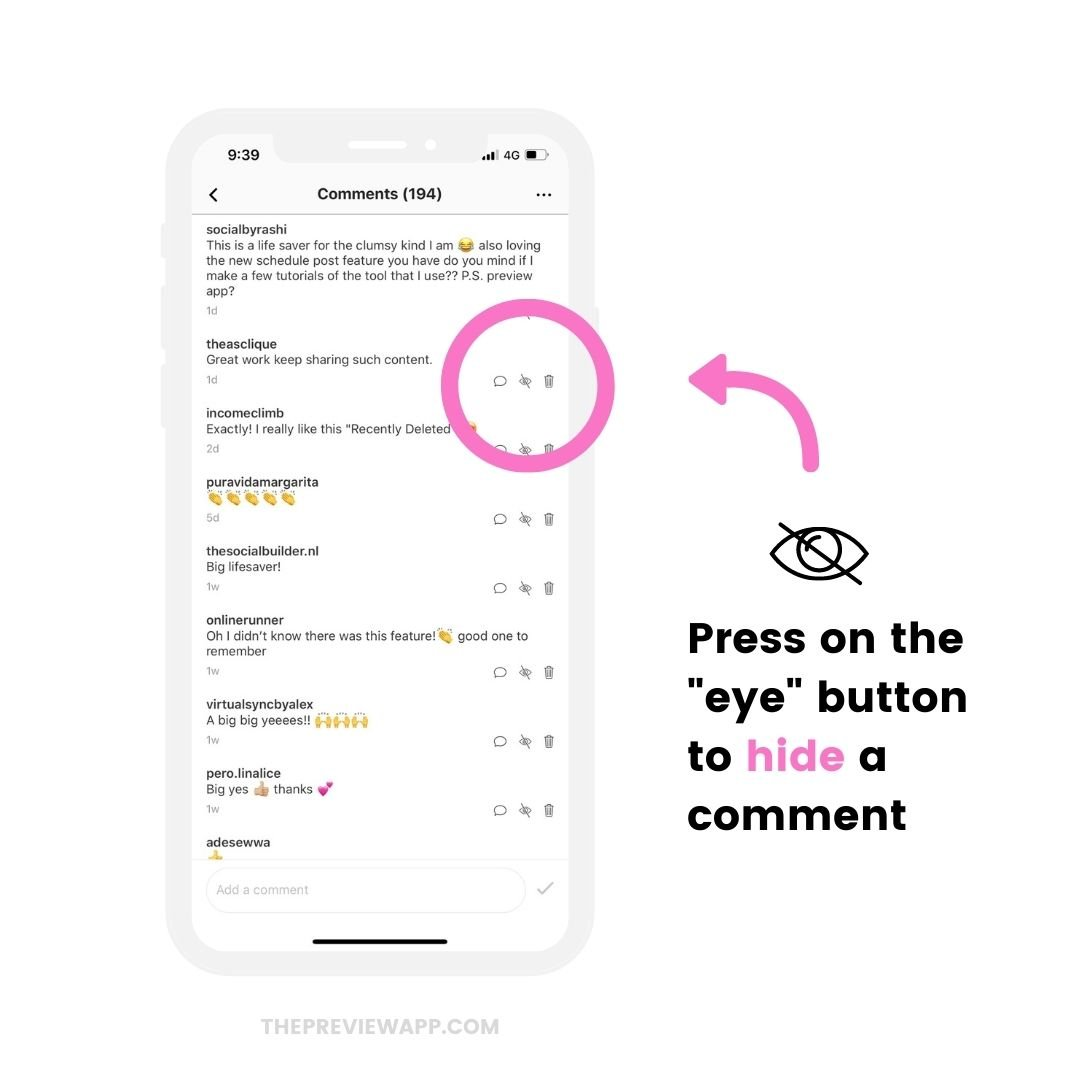 How to manage Instagram comments with Preview