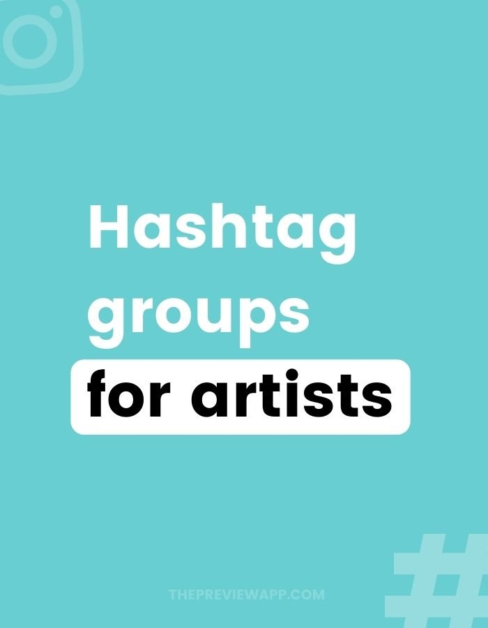 Instagram hashtags for artists